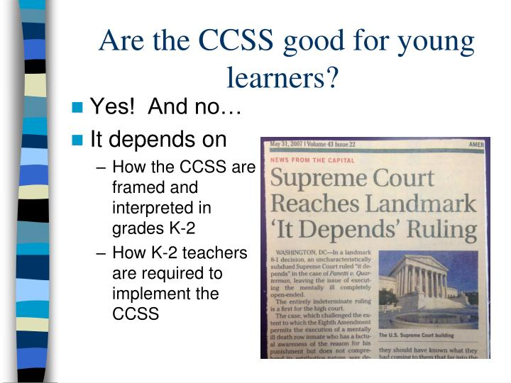 Are the CCSS good for