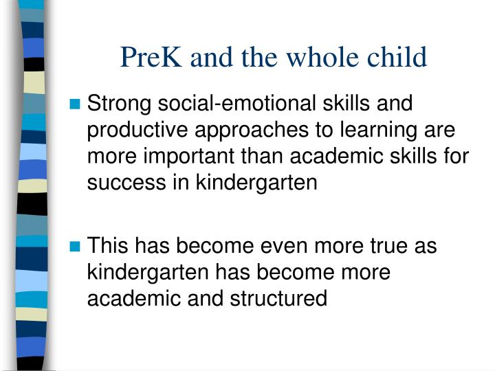 PreK and the whole child