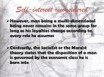 self interest reconsidered6
