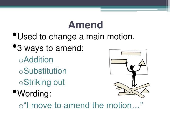 Amend