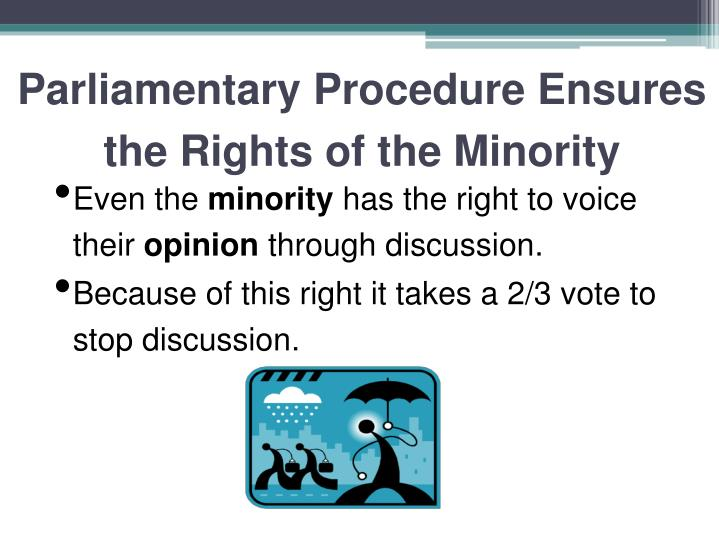 Parliamentary Procedure Ensures the Rights of the Minority
