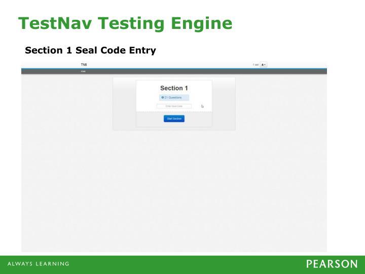 TestNav Testing Engine