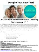 realize your resolutions group coaching starts january 27