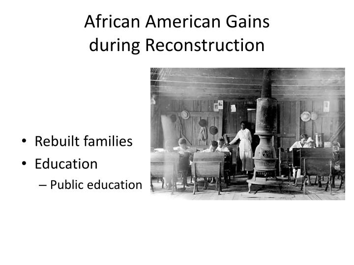 african americans and southern racism during reconstruction essay Was also a death sentence for the hopes of southern blacks  that had been  made for black people during the reconstruction period  to effect a change in  the growing attitude of political discrimination.