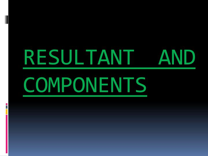 Resultant and components