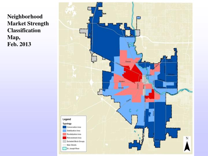 Neighborhood market strength classification map feb 2013