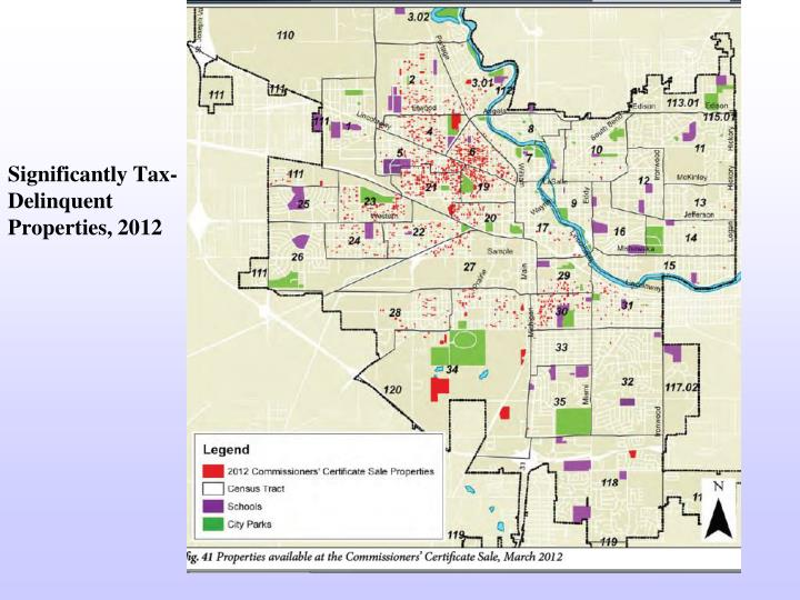 Significantly Tax-Delinquent Properties, 2012