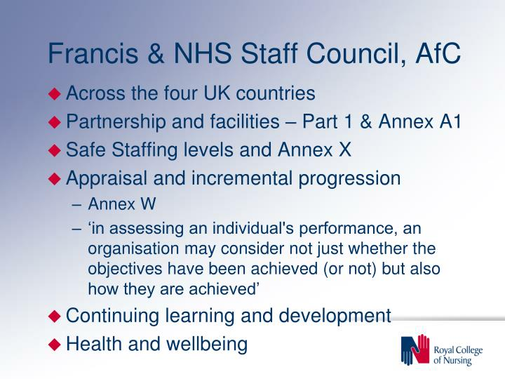 Francis & NHS Staff Council,