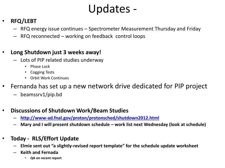 Updates -