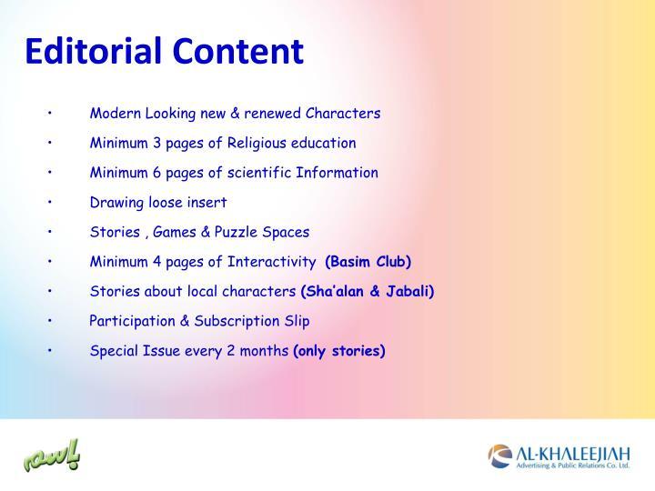 Editorial Content