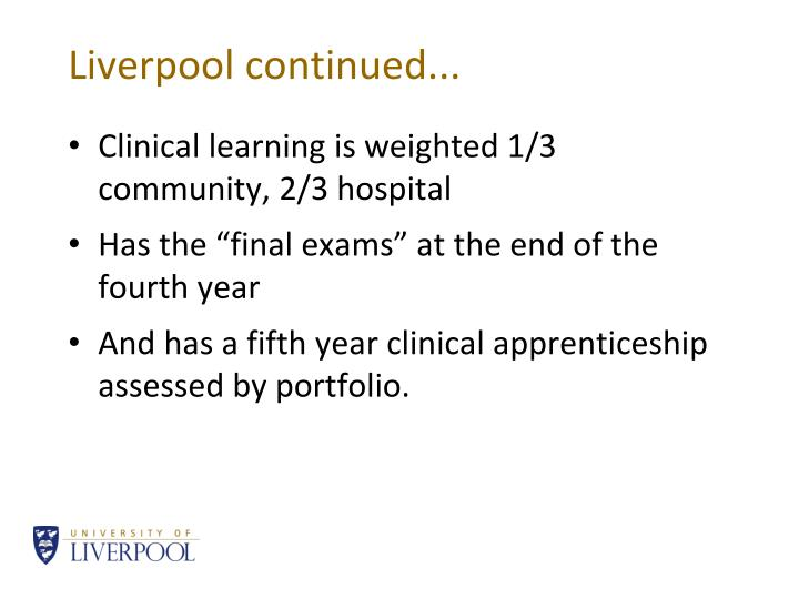 Liverpool continued...
