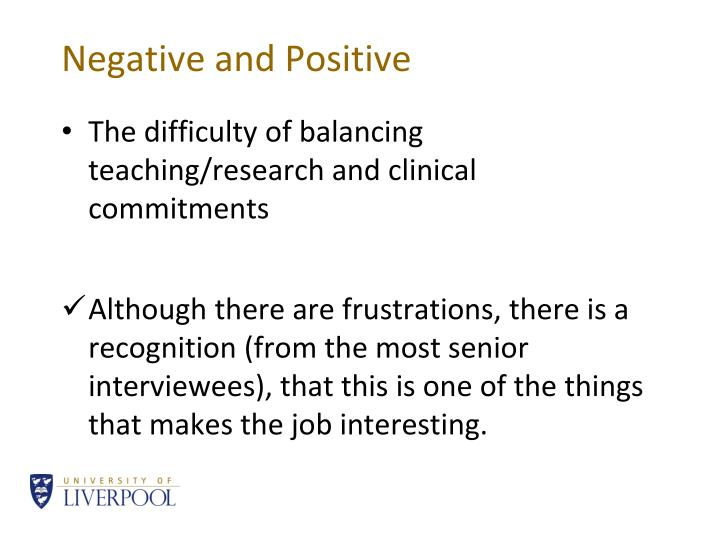 Negative and Positive