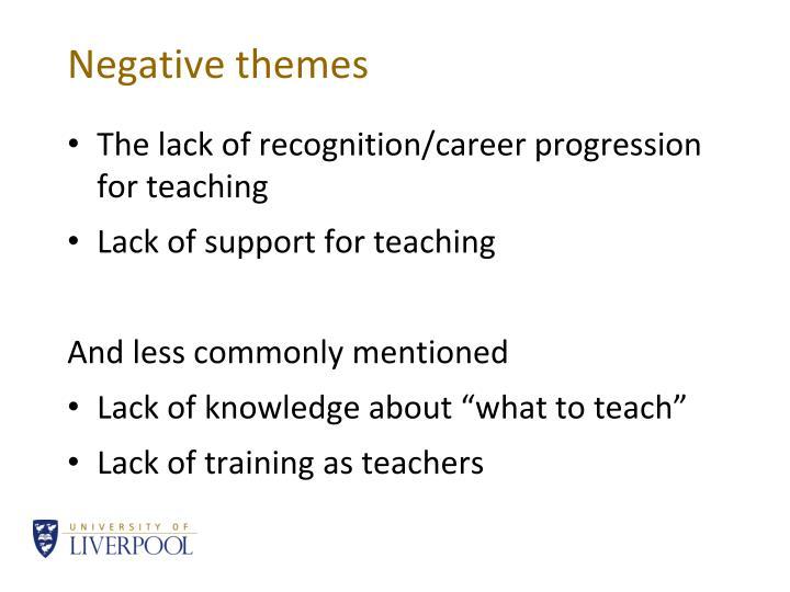 Negative themes