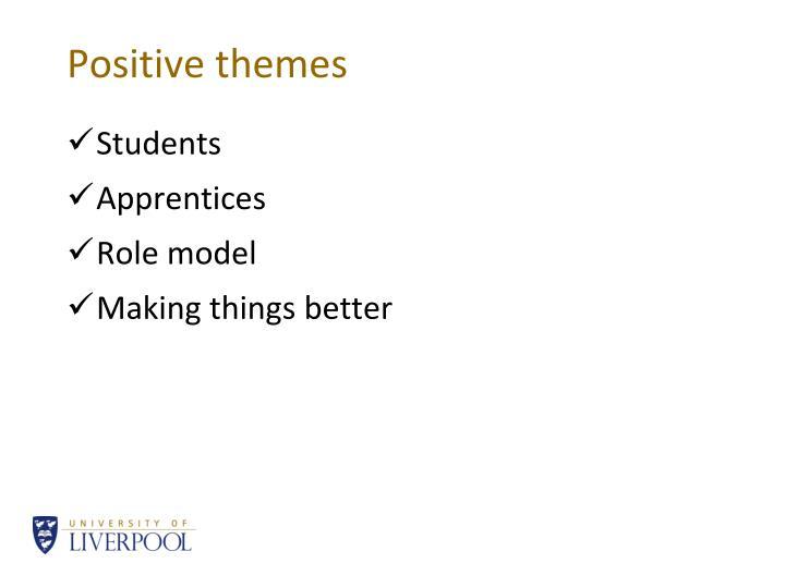 Positive themes