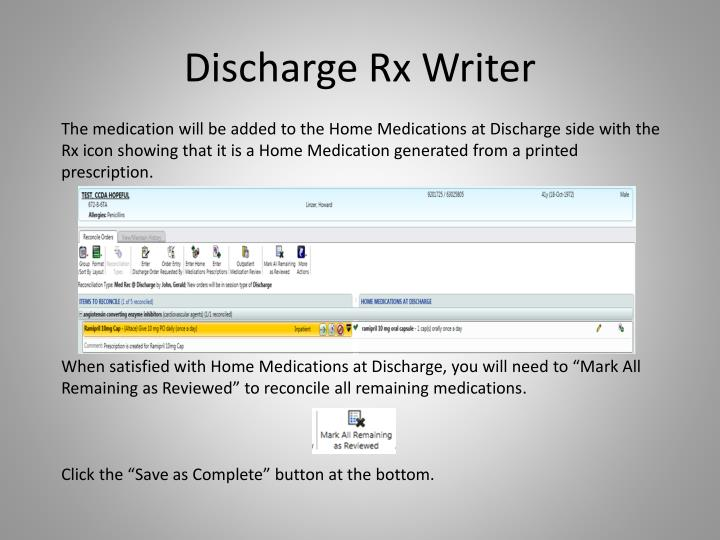 Discharge Rx