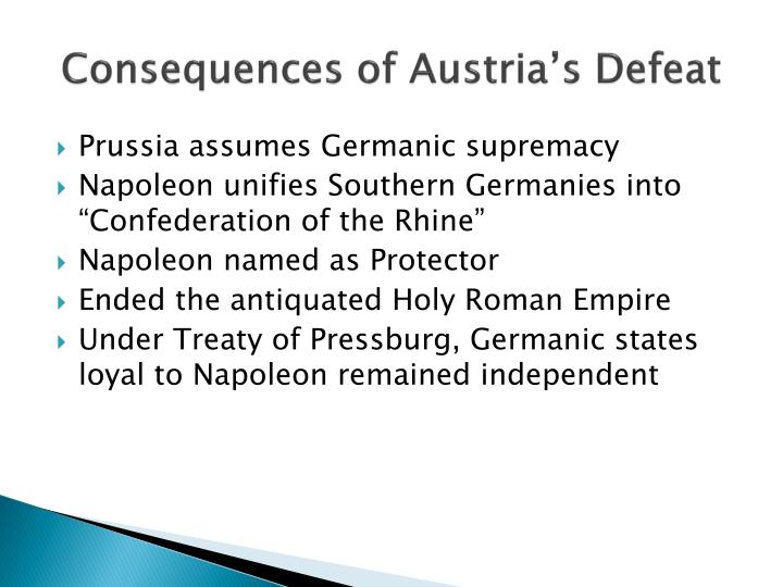 Consequences of Austria's Defeat