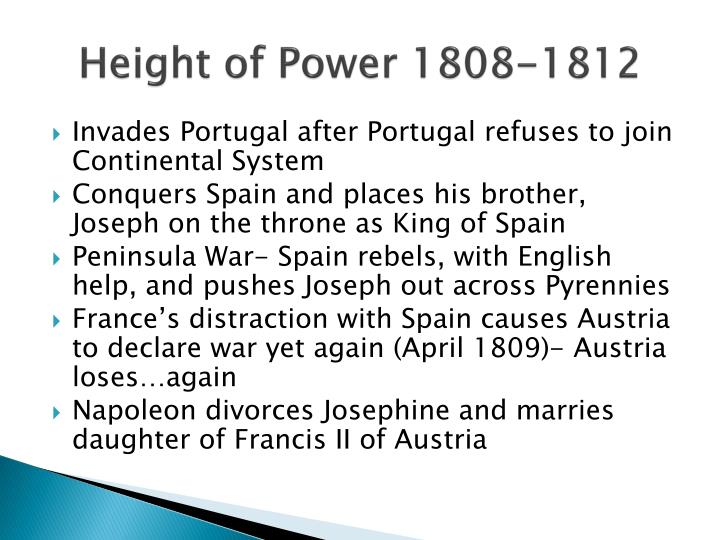 Height of Power 1808-1812