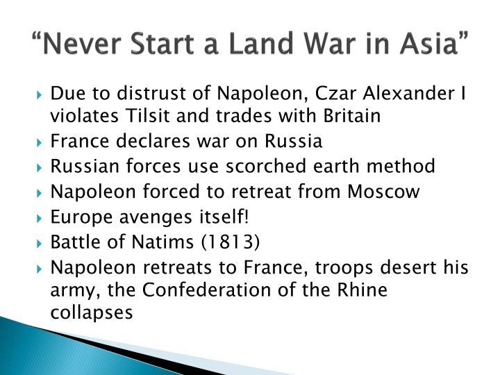 """""""Never Start a Land War in Asia"""""""