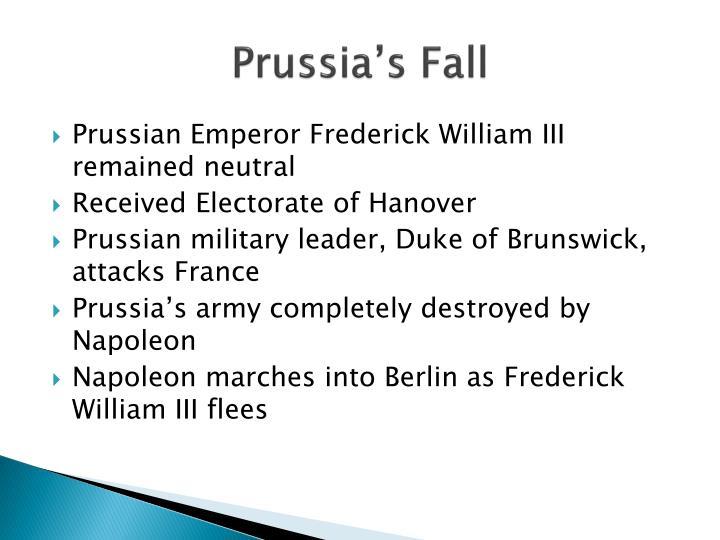Prussia's Fall