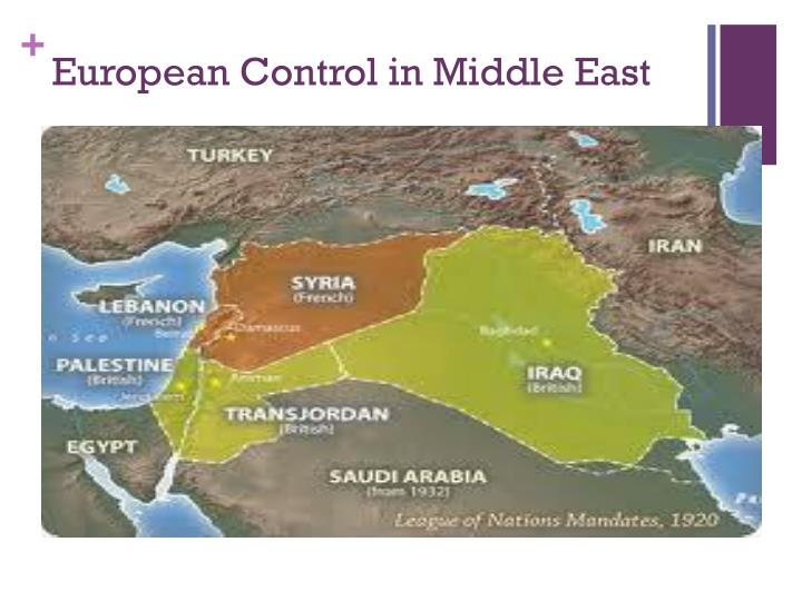 European Control in Middle East