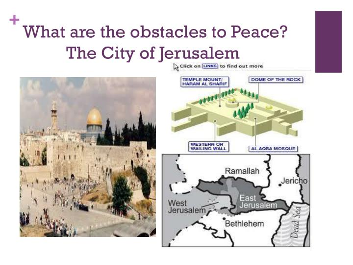 What are the obstacles to Peace?