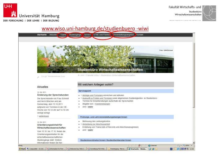 www.wiso.uni-hamburg.de/studienbuero -