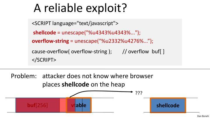 A reliable exploit?