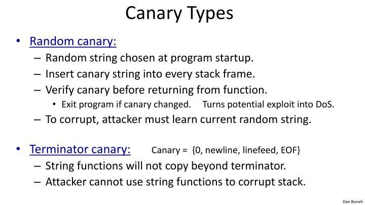Canary Types