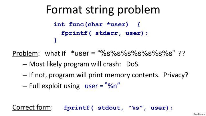 Format string problem