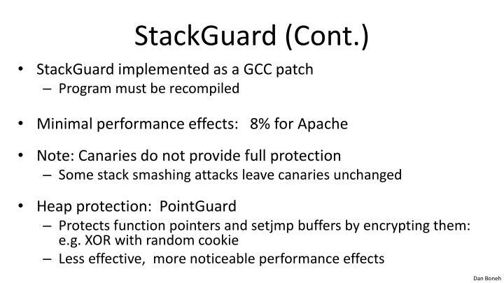 StackGuard (Cont.)