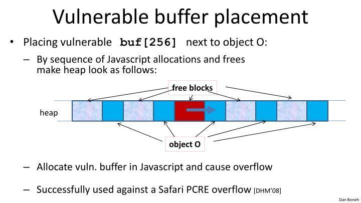 Vulnerable buffer placement