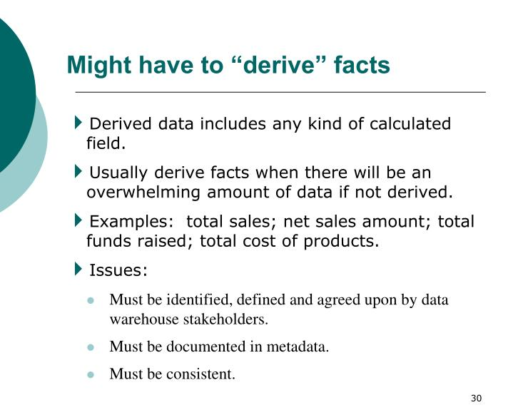 "Might have to ""derive"" facts"