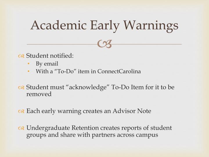 Academic Early Warnings