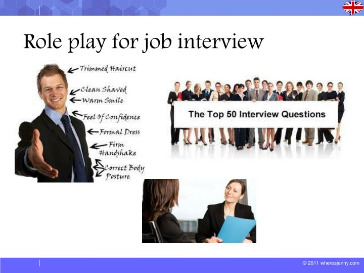 Ppt Role Play For Job Interview Powerpoint Presentation