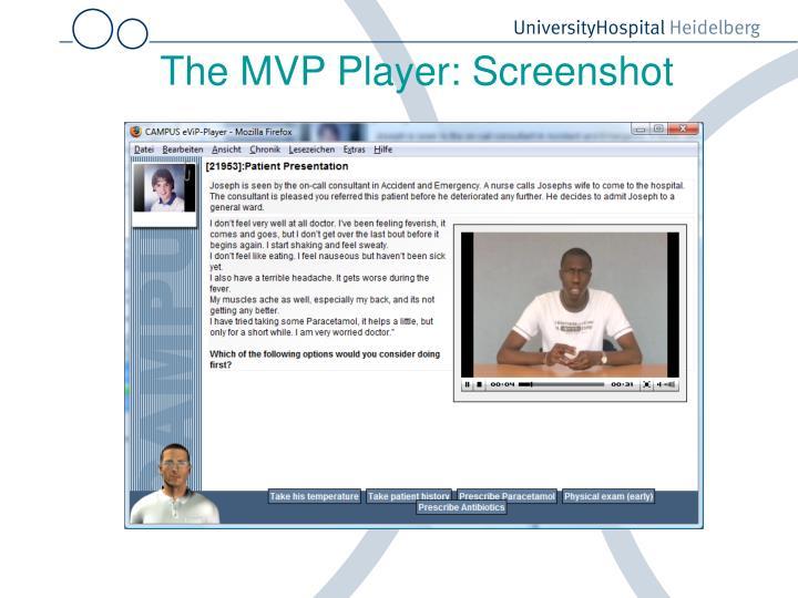 The MVP Player: Screenshot
