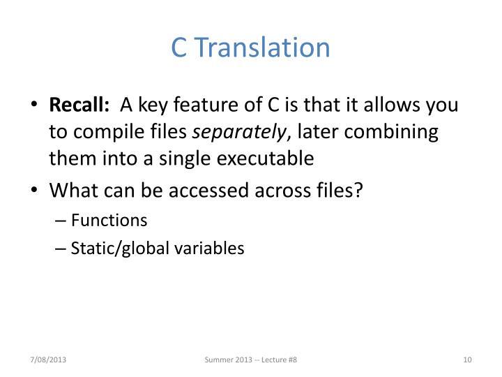 C Translation