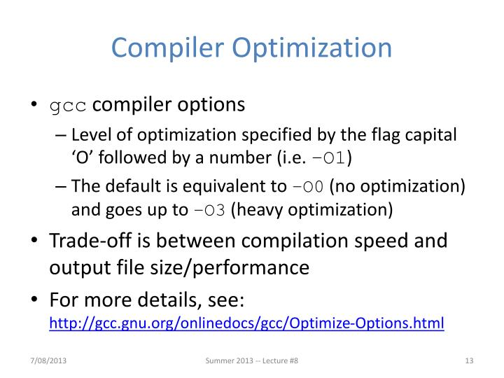 Compiler Optimization