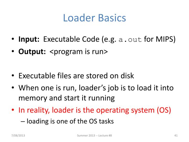 Loader Basics