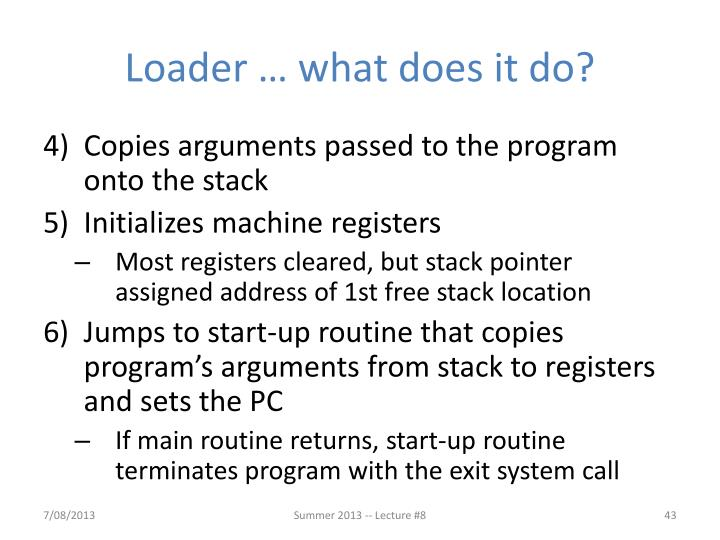 Loader … what does it do?