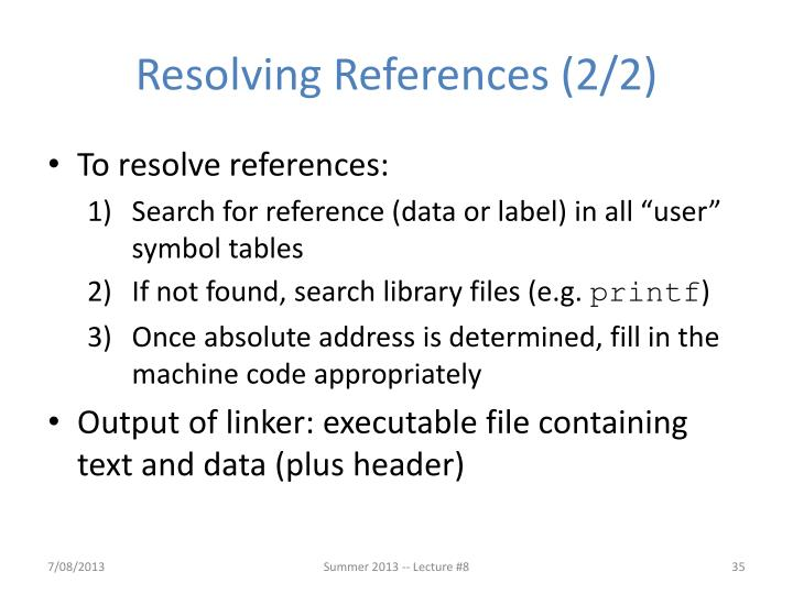 Resolving References (2/2)