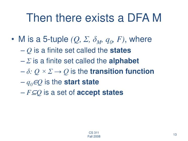 Then there exists a DFA M
