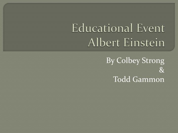Educational event albert einstein