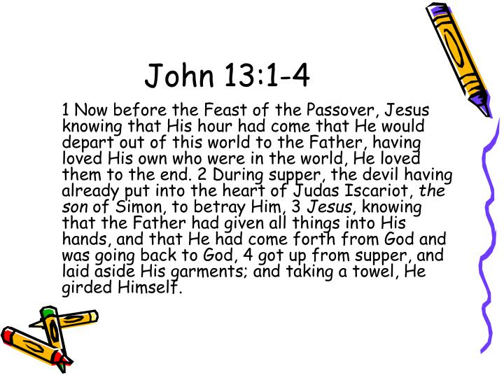 John 13:1-4