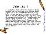 john 13 1 4