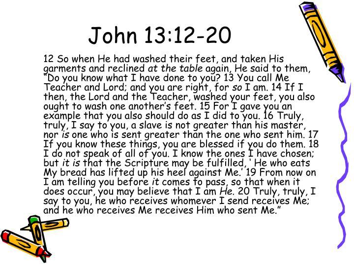 John 13:12-20