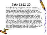 john 13 12 20