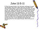 john 13 5 11