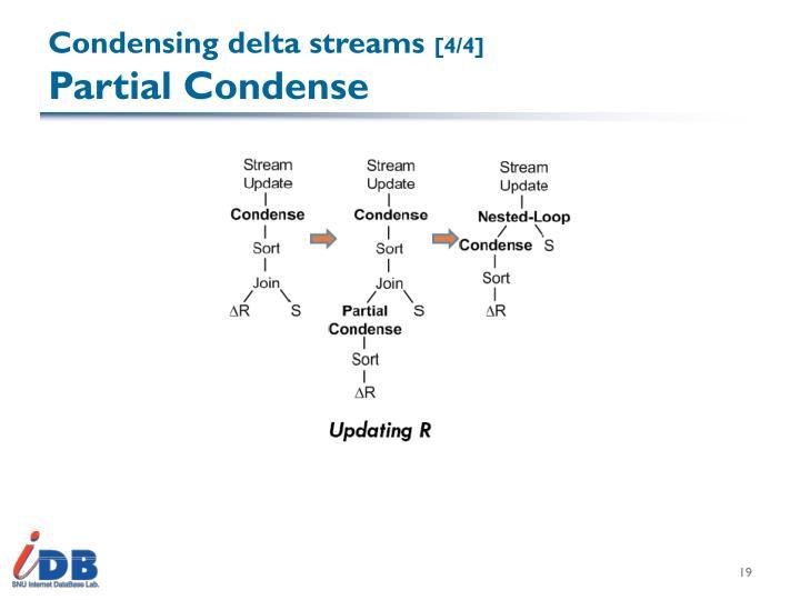 Condensing delta streams