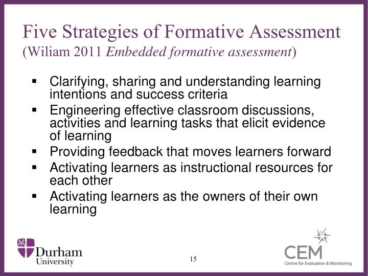 Five Strategies of Formative Assessment