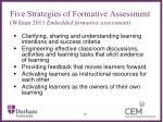 five strategies of formative assessment wiliam 2011 embedded formative assessment